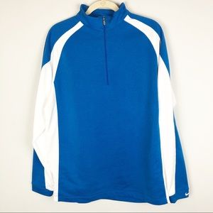 Nike Golf blue white quarter zip pullover